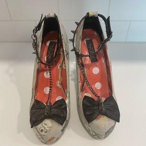 Iron fist ankle strap heels